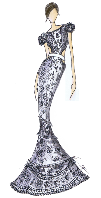 Sketch ideas for miley cyrus wedding dress see the dresses below