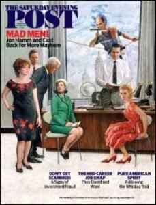 MAD MEN SATURDAY EVENING POST