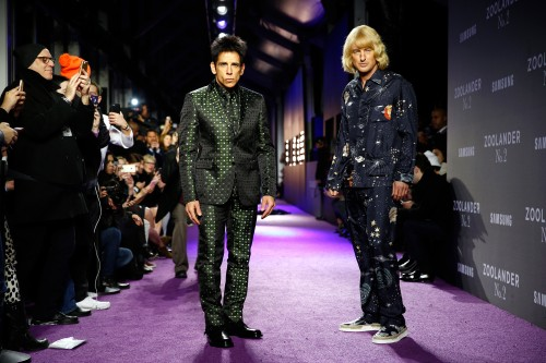 "NEW YORK, NY - FEBRUARY 09:  Actors Ben Stiller (L) and Owen Wilson walk the runway during the ""Zoolander No. 2"" World Premiere at Alice Tully Hall on February 9, 2016 in New York City.  (Photo by Brian Ach/Getty Images for Paramount) *** Local Caption *** Ben Stiller;Owen Wilson"