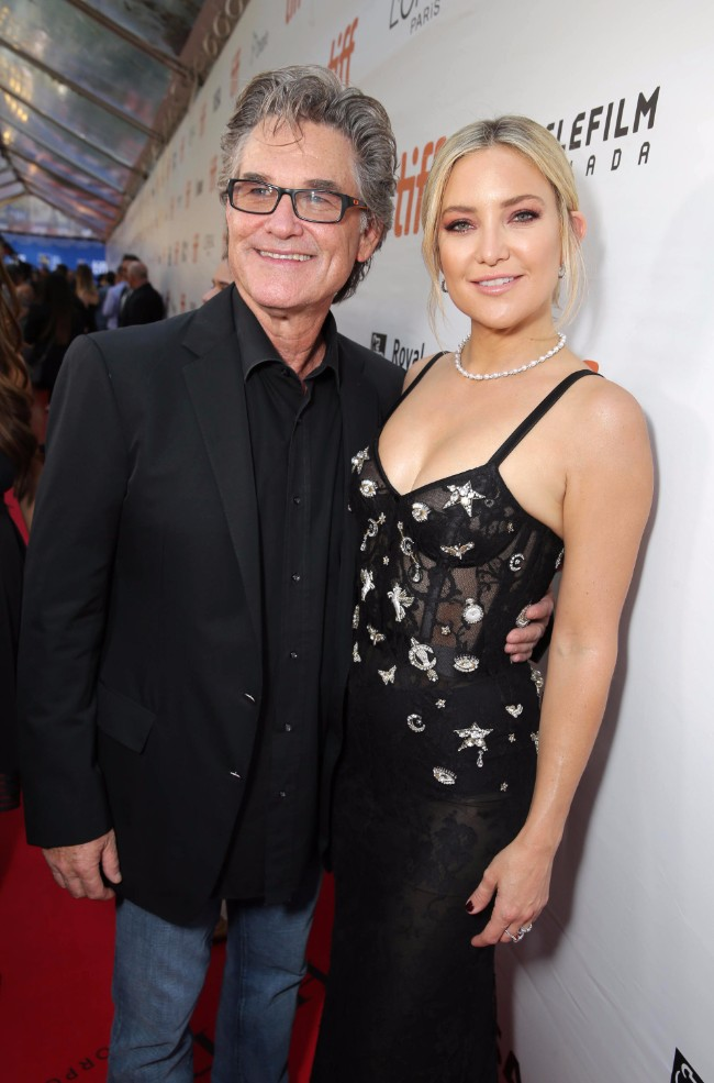 "Kurt Russell and Kate Hudson seen at Lionsgate's ""Deepwater Horizon"" premiere at the 2016 Toronto International Festival on Tuesday, Sept. 13, 2016, in Toronto."
