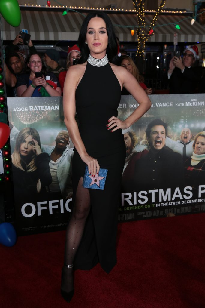 "Katy Perry poses as Paramount Pictures presents the Los Angeles premiere of ""Office Christmas Party"" at the Regency Village Theater in Los Angeles, CA on Wednesday, December 7, 2016 ..(Photo: Alex J. Berliner / ABImages)"