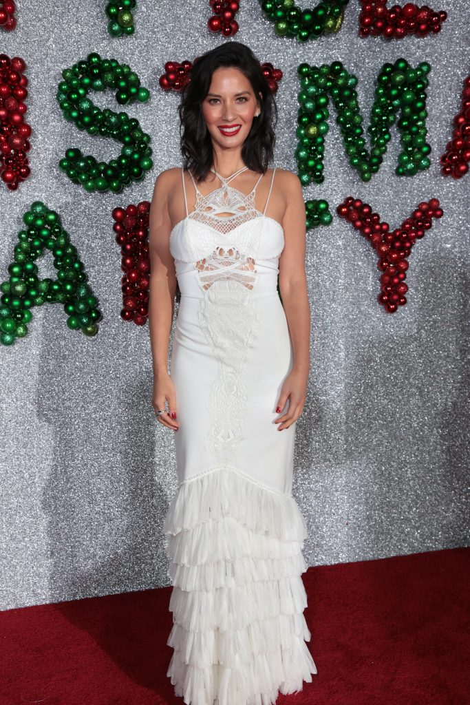 "Olivia Munn poses as Paramount Pictures presents the Los Angeles premiere of ""Office Christmas Party"" at the Regency Village Theater in Los Angeles, CA on Wednesday, December 7, 2016 ..(Photo: Alex J. Berliner / ABImages)"