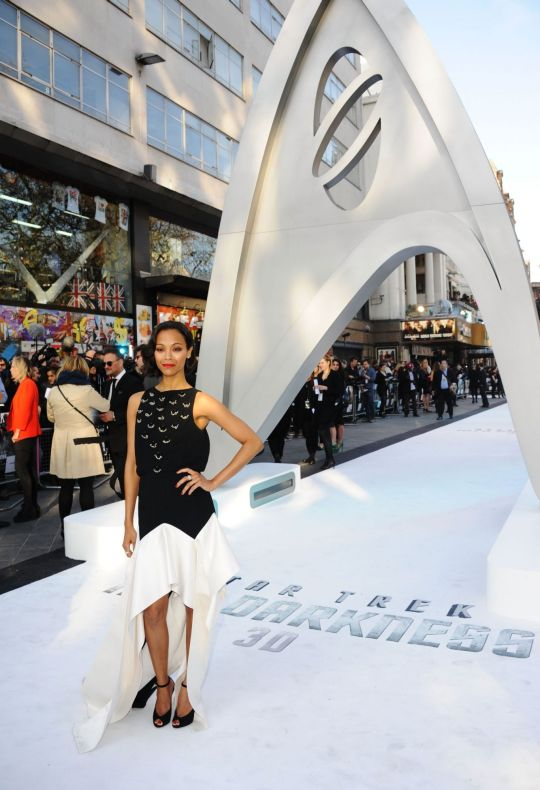 Zoe Saldana in Leicester Square, London