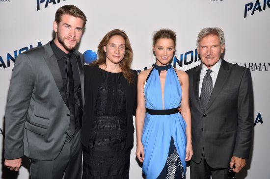 Liam Hemsworth, Alexandra Milchan, Amber Heard, Harrison Ford