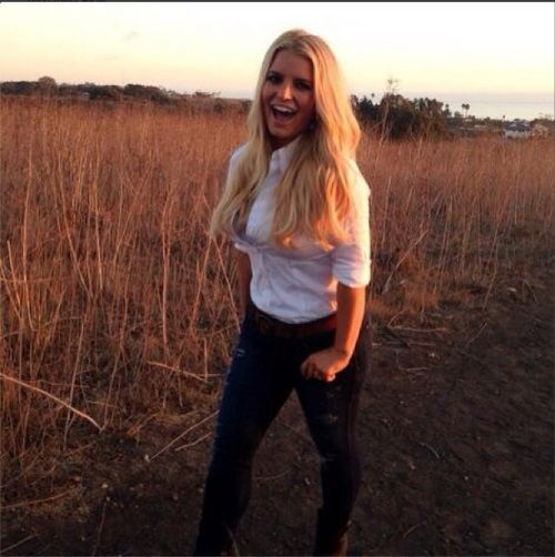 Jessica Simpson looking slim for her Weight Watchers commercial. Photo Courtesy of Jessica Simpson.