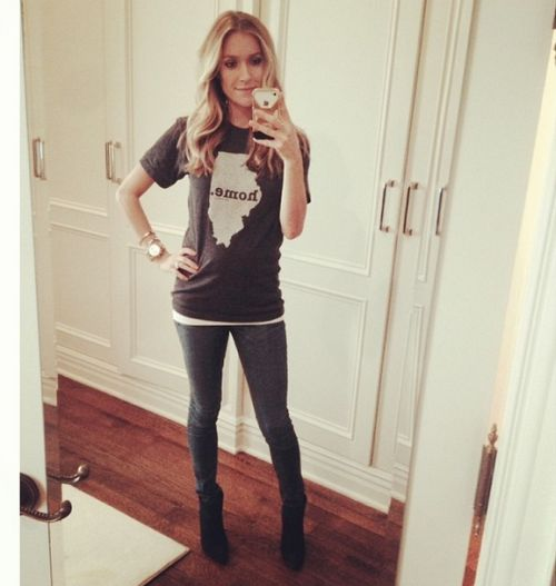 Kristin Cavallari revealed her baby bump. Photo courtesy of Kristin Cavallari.