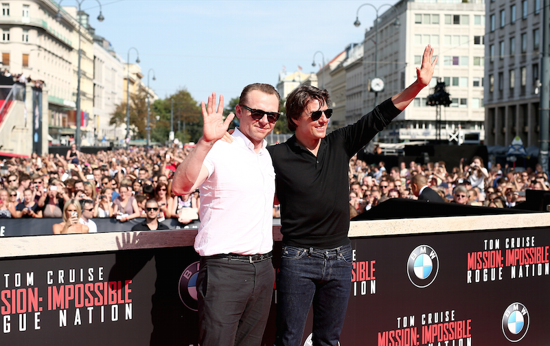Simon Pegg, Tom Cruise