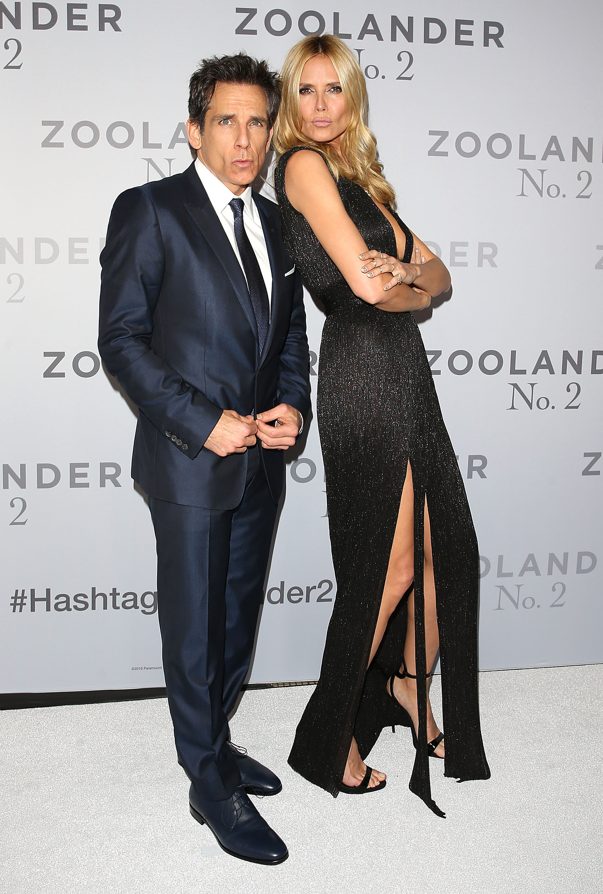 SYDNEY, AUSTRALIA - JANUARY 26: Ben Stiller and Heidi Klum attend the Sydney Fan Screening Event of the Paramount Pictures film 'Zoolander No. 2' at the State Theatre on January 26, 2016 in Sydney, Australia. (Photo by Caroline McCredie/Getty Images for Paramount Pictures) *** Local Caption *** Ben Stiller; Heidi Klum