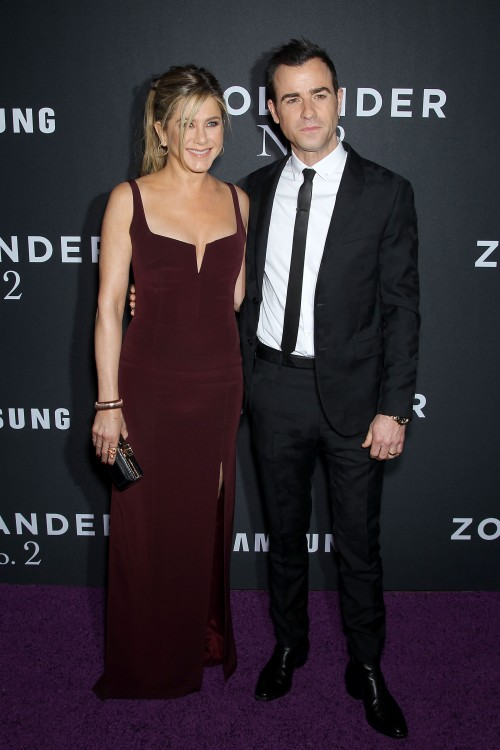 "- New York, NY - 2/9/16 - Paramount Pictures & Vogue Present the World Premiere of ""ZOOLANDER 2"" Sponsored by Samsung...-PICTURED: Jennifer Aniston, Justin Theroux.-PHOTO by: Marion Curtis/Starpix.-FILENAME: IMG_00823.JPG.-LOCATION: Alice Tulley Hall - Lincoln Center"