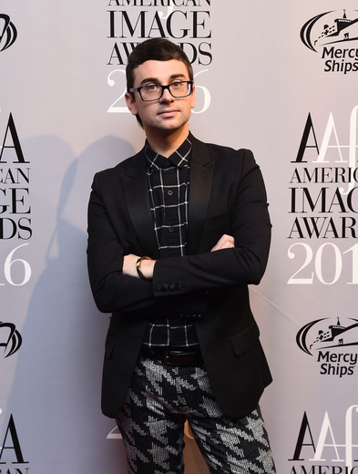 Designer Christian Siriano attends the American Apparel & Footwear Association's 38th Annual American Image Awards 2016 on May 24, 2016 in New York City. (Photo by Ilya S. Savenok/Getty Images for American Apparel & Footwear Association (AAFA))