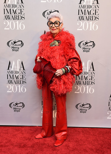 Iris Apfel attends the American Apparel & Footwear Association's 38th Annual American Image Awards 2016 on May 24, 2016 in New York City. (Photo by Ilya S. Savenok/Getty Images for American Apparel & Footwear Association (AAFA))