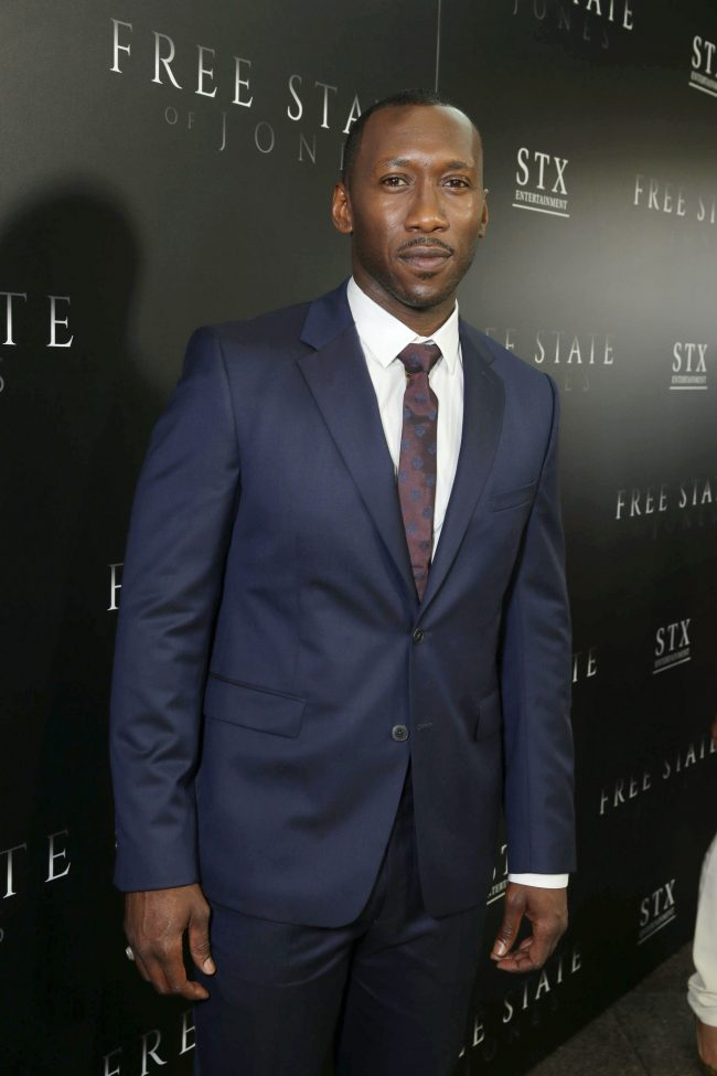 "Mahershala Ali seen at Los Angeles Premiere of STX Entertainment ""Free State of Jones"" at DGA Theater on Tuesday, June 21, 2016, in Los Angeles. (Photo by Eric Charbonneau/Invision for STX Entertainment/AP Images)"