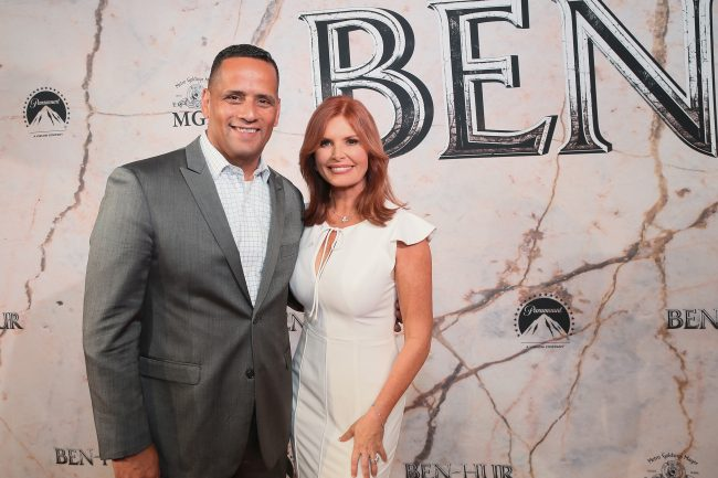 "MEXICO CITY, MEXICO - AUGUST 09: Roma Downey (R) and guest attend the Mexico Premiere of the Paramount Pictures ""Ben-Hur"" at Metropolitan Theater on August 9, 2016 in Mexico City, Mexico. (Photo by Lucian Capellaro for Paramount Pictures) width="