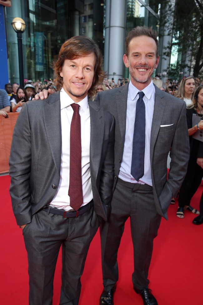 "Mark Wahlberg and Director Peter Berg seen at Lionsgate's ""Deepwater Horizon"" premiere at the 2016 Toronto International Festival on Tuesday, Sept. 13, 2016, in Toronto."