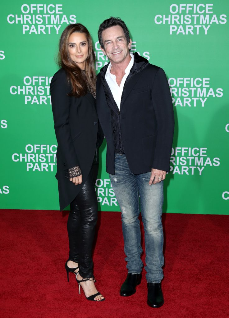 "WESTWOOD, CA - DECEMBER 07: Actress Lisa Ann Russell (L) and TV personality Jeff Probst attend the LA Premiere of Paramount Pictures ""Office Christmas Party"" at Regency Village Theatre on December 7, 2016 in Westwood, California.  (Photo by Jonathan Leibson/Getty Images for Paramount Pictures) *** Local Caption *** Lisa Ann Russell;Jeff Probst"