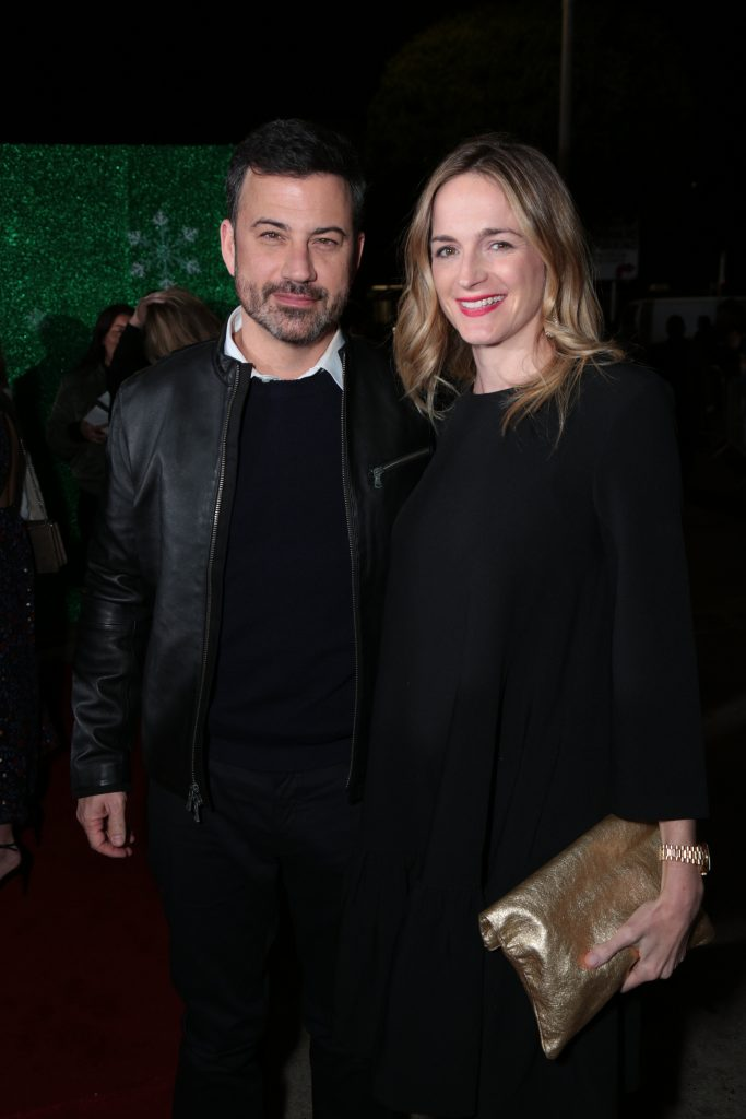 "Jimmy Kimmel and Molly McNearney pose as Paramount Pictures presents the Los Angeles premiere of ""Office Christmas Party"" at the Regency Village Theater in Los Angeles, CA on Wednesday, December 7, 2016 ..(Photo: Alex J. Berliner / ABImages)"