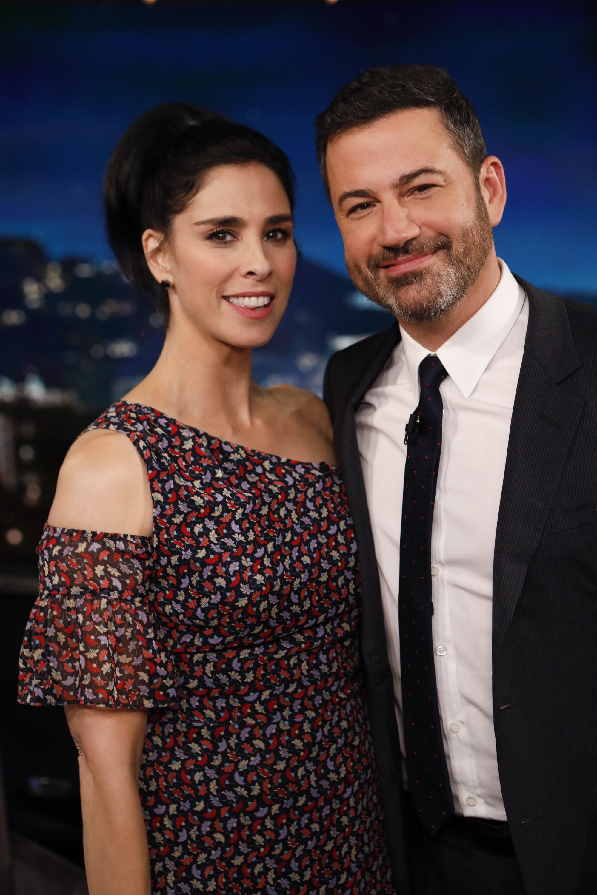 Sarah Silverman visits Jimmy Kimmel